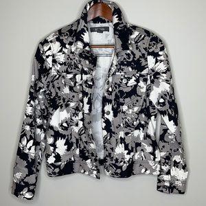 KENNETH COLE Reaction floral camo denim jacket M